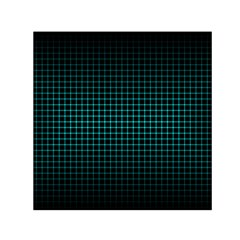 Optical Illusion Grid in Black and Neon Green Small Satin Scarf (Square)