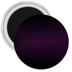 Optical Illusion Grid in Black and Neon Pink 3  Magnets