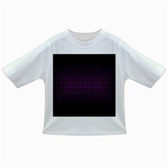 Optical Illusion Grid in Black and Neon Pink Infant/Toddler T-Shirts