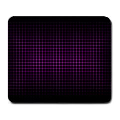 Optical Illusion Grid in Black and Neon Pink Large Mousepads