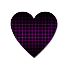 Optical Illusion Grid in Black and Neon Pink Heart Magnet