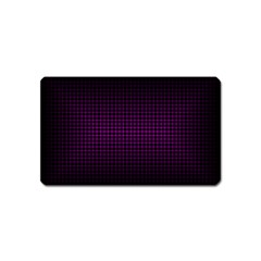 Optical Illusion Grid in Black and Neon Pink Magnet (Name Card)