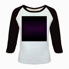 Optical Illusion Grid in Black and Neon Pink Kids Baseball Jerseys