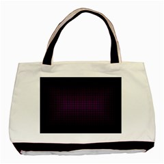 Optical Illusion Grid in Black and Neon Pink Basic Tote Bag