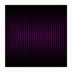 Optical Illusion Grid in Black and Neon Pink Medium Glasses Cloth