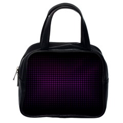 Optical Illusion Grid in Black and Neon Pink Classic Handbags (One Side)