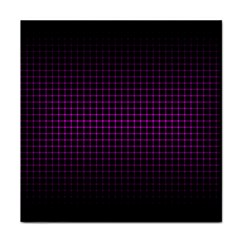 Optical Illusion Grid in Black and Neon Pink Face Towel