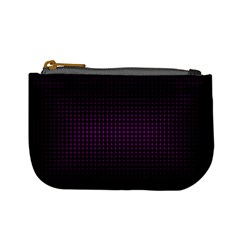 Optical Illusion Grid in Black and Neon Pink Mini Coin Purses