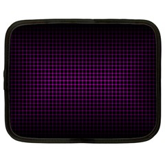 Optical Illusion Grid in Black and Neon Pink Netbook Case (XL)