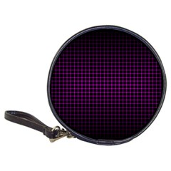 Optical Illusion Grid in Black and Neon Pink Classic 20-CD Wallets