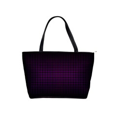 Optical Illusion Grid in Black and Neon Pink Shoulder Handbags