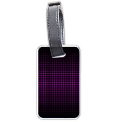Optical Illusion Grid In Black And Neon Pink Luggage Tags (one Side)