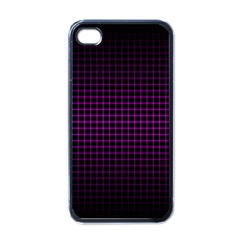 Optical Illusion Grid in Black and Neon Pink Apple iPhone 4 Case (Black)