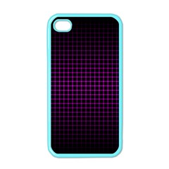 Optical Illusion Grid in Black and Neon Pink Apple iPhone 4 Case (Color)