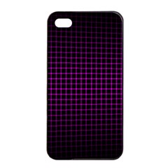 Optical Illusion Grid in Black and Neon Pink Apple iPhone 4/4s Seamless Case (Black)