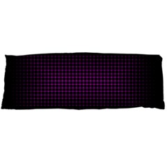 Optical Illusion Grid in Black and Neon Pink Body Pillow Case Dakimakura (Two Sides)