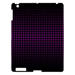 Optical Illusion Grid in Black and Neon Pink Apple iPad 3/4 Hardshell Case