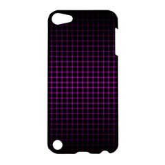 Optical Illusion Grid in Black and Neon Pink Apple iPod Touch 5 Hardshell Case