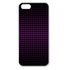 Optical Illusion Grid in Black and Neon Pink Apple Seamless iPhone 5 Case (Clear)