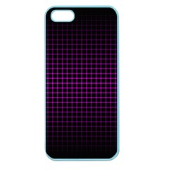 Optical Illusion Grid in Black and Neon Pink Apple Seamless iPhone 5 Case (Color)