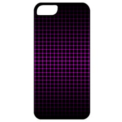 Optical Illusion Grid in Black and Neon Pink Apple iPhone 5 Classic Hardshell Case