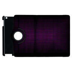Optical Illusion Grid In Black And Neon Pink Apple Ipad 3/4 Flip 360 Case