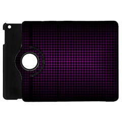Optical Illusion Grid in Black and Neon Pink Apple iPad Mini Flip 360 Case