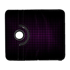 Optical Illusion Grid in Black and Neon Pink Galaxy S3 (Flip/Folio)