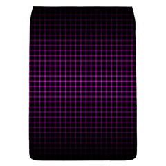 Optical Illusion Grid in Black and Neon Pink Flap Covers (S)