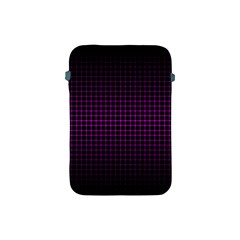Optical Illusion Grid in Black and Neon Pink Apple iPad Mini Protective Soft Cases