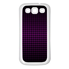 Optical Illusion Grid in Black and Neon Pink Samsung Galaxy S3 Back Case (White)