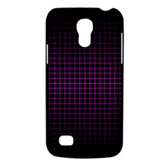 Optical Illusion Grid in Black and Neon Pink Galaxy S4 Mini
