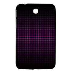 Optical Illusion Grid in Black and Neon Pink Samsung Galaxy Tab 3 (7 ) P3200 Hardshell Case