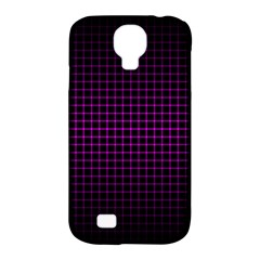 Optical Illusion Grid in Black and Neon Pink Samsung Galaxy S4 Classic Hardshell Case (PC+Silicone)