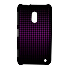 Optical Illusion Grid In Black And Neon Pink Nokia Lumia 620