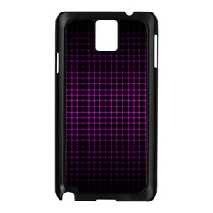 Optical Illusion Grid in Black and Neon Pink Samsung Galaxy Note 3 N9005 Case (Black)