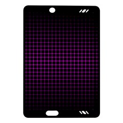 Optical Illusion Grid in Black and Neon Pink Amazon Kindle Fire HD (2013) Hardshell Case