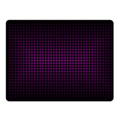 Optical Illusion Grid in Black and Neon Pink Double Sided Fleece Blanket (Small)