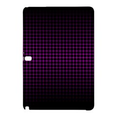 Optical Illusion Grid in Black and Neon Pink Samsung Galaxy Tab Pro 10.1 Hardshell Case