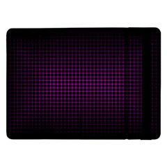 Optical Illusion Grid in Black and Neon Pink Samsung Galaxy Tab Pro 12.2  Flip Case