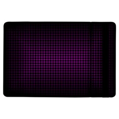 Optical Illusion Grid in Black and Neon Pink iPad Air Flip