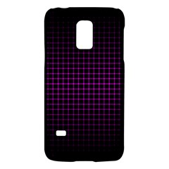 Optical Illusion Grid in Black and Neon Pink Galaxy S5 Mini