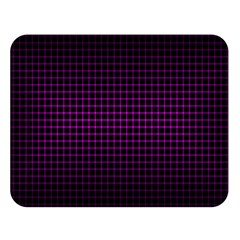 Optical Illusion Grid in Black and Neon Pink Double Sided Flano Blanket (Large)