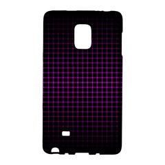 Optical Illusion Grid in Black and Neon Pink Galaxy Note Edge
