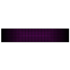 Optical Illusion Grid in Black and Neon Pink Flano Scarf (Small)