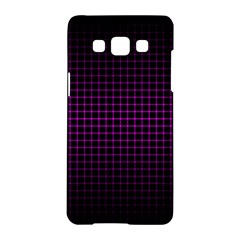 Optical Illusion Grid in Black and Neon Pink Samsung Galaxy A5 Hardshell Case