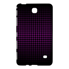 Optical Illusion Grid in Black and Neon Pink Samsung Galaxy Tab 4 (8 ) Hardshell Case