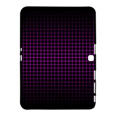 Optical Illusion Grid in Black and Neon Pink Samsung Galaxy Tab 4 (10.1 ) Hardshell Case