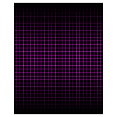 Optical Illusion Grid in Black and Neon Pink Drawstring Bag (Small)