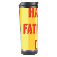Happy Fathers Day Yellow Stripes Travel Tumbler